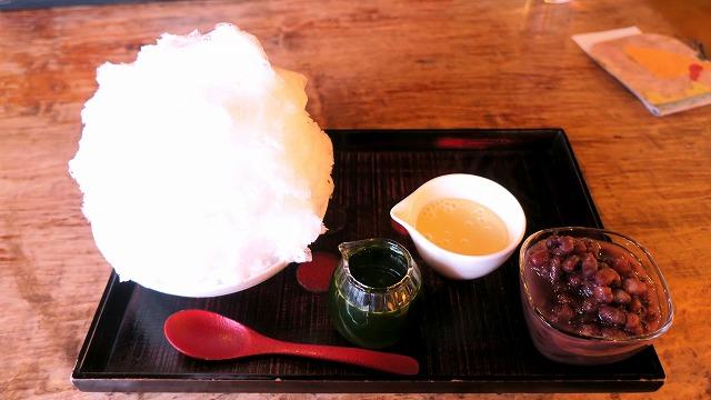 長瀞 ギャラリー喫茶やました かき氷