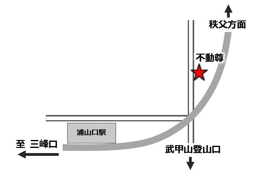 秩父 浦山口駅 不動尊・不動名水 地図