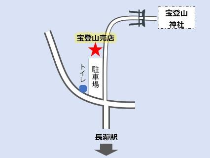 長瀞 宝登山神社売店 かき氷 地図