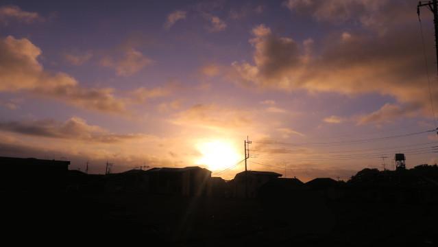 空 近所の朝焼け 日の出