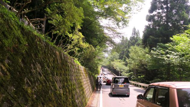 三峯神社 駐車場渋滞 バス 途中下車