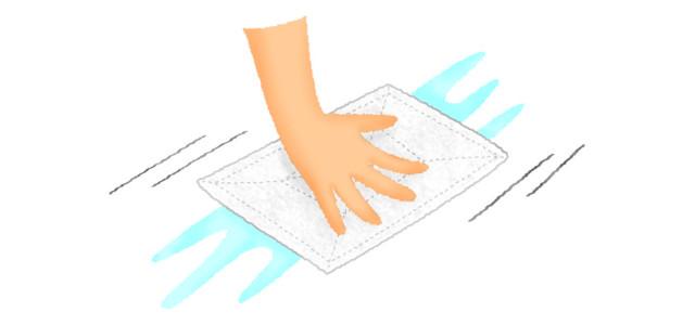 水拭き、雑巾