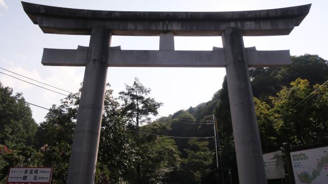 金鑚神社 2021-08 大鳥居
