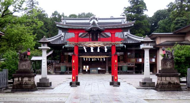 箭弓稲荷神社、両部鳥居