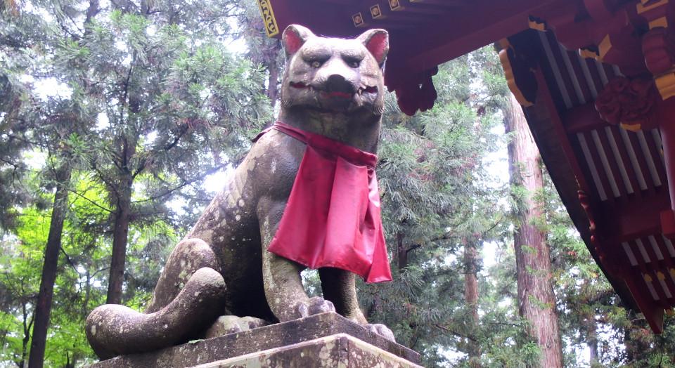 三峯神社 髄神門 お犬様 狛犬 ん