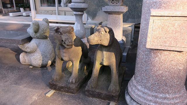 秩父路 徒歩 7km 江原製石 お犬様 狛犬